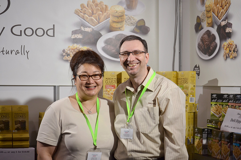 Carmelo Montalto and Angela Wong - Gluten Free Show in Melbourne